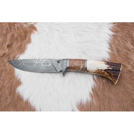 Lovecký damaškový nůž, kovářství pana Čurdy č.503