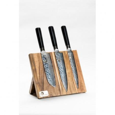Mistrovská sada 3 nožů Tsuchime s magnetickým držákem