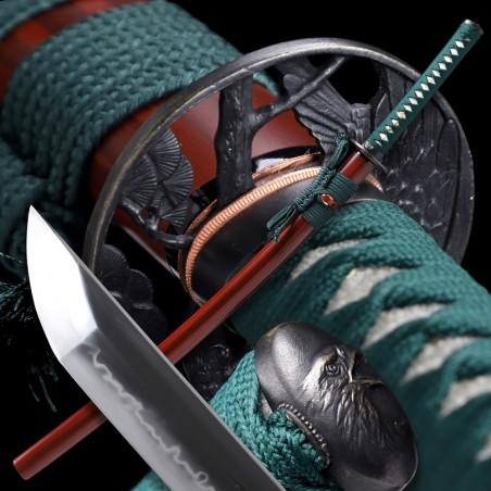 Washi Japanese Sword - T-10 Steel, Yokote - Choji Hamon
