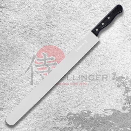 Cukrářský nůž na prokrajování korpusů dortů - hladký 400 mm