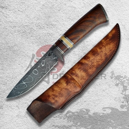 lovecký nůž BOBLE Damascus