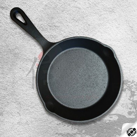 litinová pánev o průměru 25 cm pro dokonalé restování, smažení, pečení a dušení