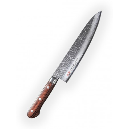 Chef (Gyuto) 210mm-Suncraft Senzo Universal-Damascus-japonský kuchyňský nůž-Tsuchime- VG10–33 vrstev
