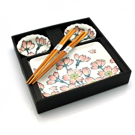 porcelánový servis na SUSHI - Flowers