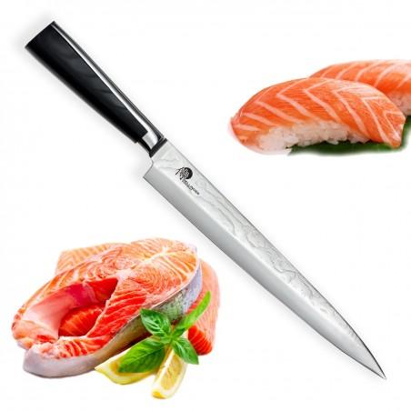 """Knife Yanagiba 9,5"""" (240mm) Dellinger Sushi Professional Damascus"""