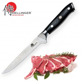 Damascus Boning Knife 8 Dellinger Cutlery Samurai Series Anese 67 Layers Vg 10 Steel With Gift Box
