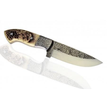 """nůž Dellinger """"D2"""" Engraver Camel Bone"""