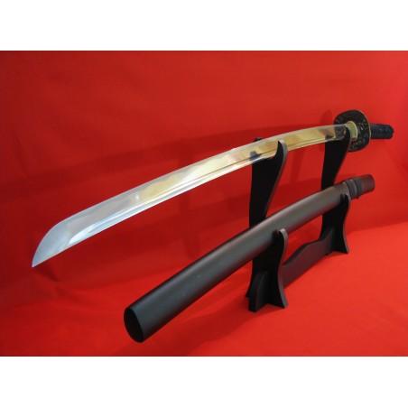 Katana ODAKE z překládané oceli a leštěnou imitací hamonu