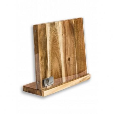 Magnetický držák na nože z akátového dřeva s akrylátovým krytem