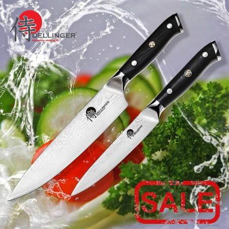 Profesionální sada 2 kuchyňských a kuchařských nožů série Samurai