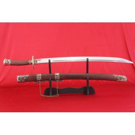 Čínská šavle ručně kovaná z dynastie Ming a Qing z vysokokarbonové oceli Typ.II.