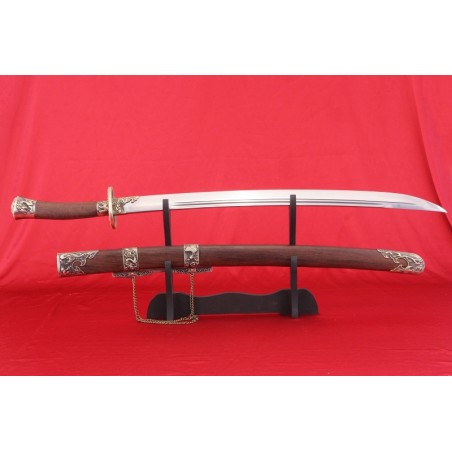 čínská šavle z dynastie Ming a Qing z vysokokarbonové oceli Typ.II.