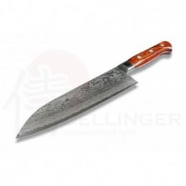 Sada 5 nožů z nerezové oceli 7Cr17MOV v dárkové krabici s magnetickým stojanem z akátového dřeva