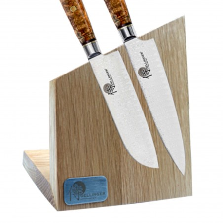 Magnetic knife stand - made of oak wood