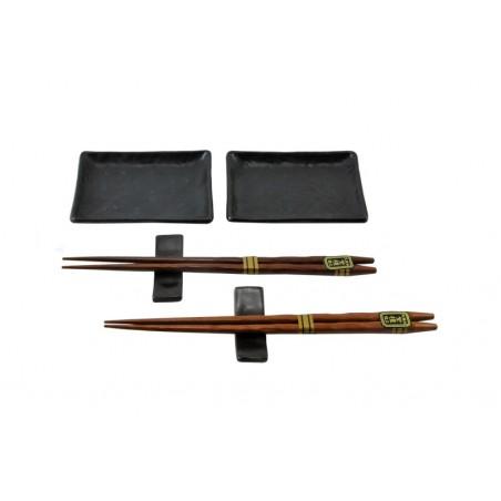 porcelánový servis na SUSHI - Kuroi Kukei Mini