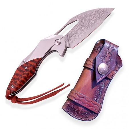 nůž zavírací Dellinger WANDEL VG-10 damascus