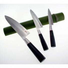 Honkiyotsuna-nůž Nakiri 165 mm-Yasuki Blue Stell-Black Smoked